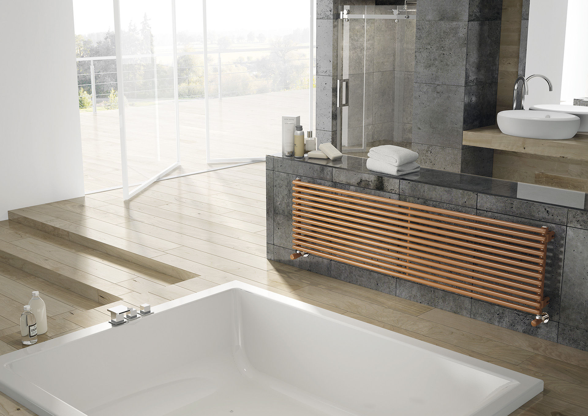 Arpa23 horizontal for Toalleros electricos cromados